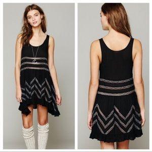 Free People Voile Lace Trapeze Dress L